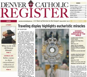 Denver Catholic Register article