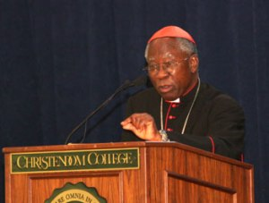 Francis Cardinal Arinze will lead the spiritual reflections during the Ex corde Ecclesiae Presidents Roundtable at Christendom College.